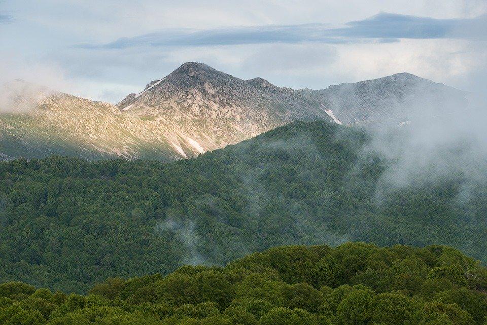 La dorsale della Montagna Grande e il valico del Campitello in Abruzzo