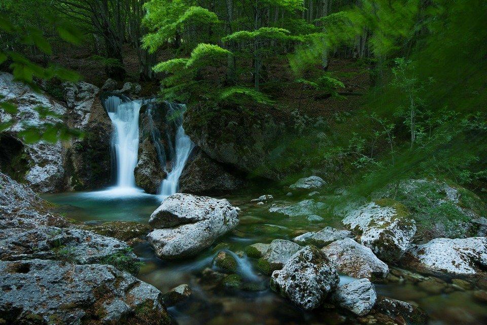 Le belle cascate che si formano lungo il fiume Melfa nella Val Canneto